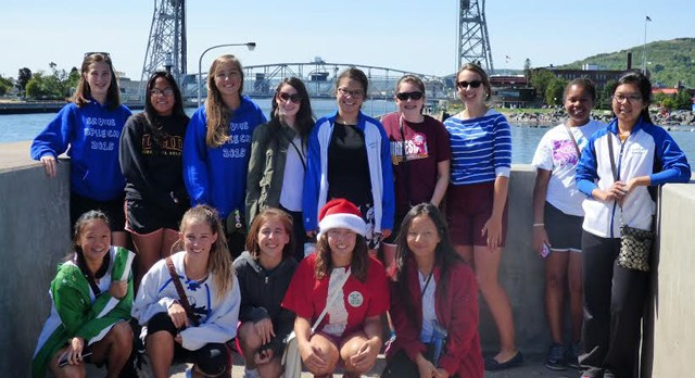 The Girls Tennis Team Enjoys their Trip to Duluth