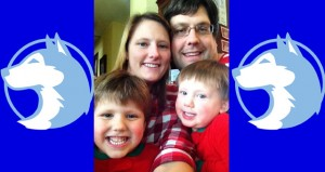 Jenny Patrek pictured with her husband, Nolan Patrek and their two sons Phillip and Jack.