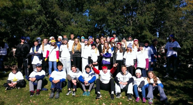 St. Anthony Cross Country Volunteers at Twin Cities Marathon