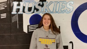12th grade hockey player, Abby Bollensen.
