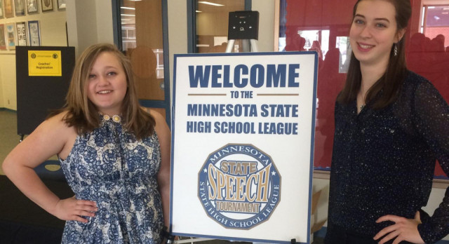 White and Pederson Compete at State Speech Tournament