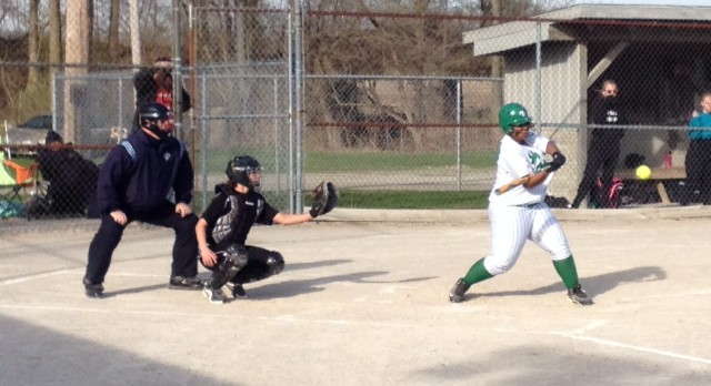 New Castle High School Softball Varsity beats Winchester Community High School 10-0