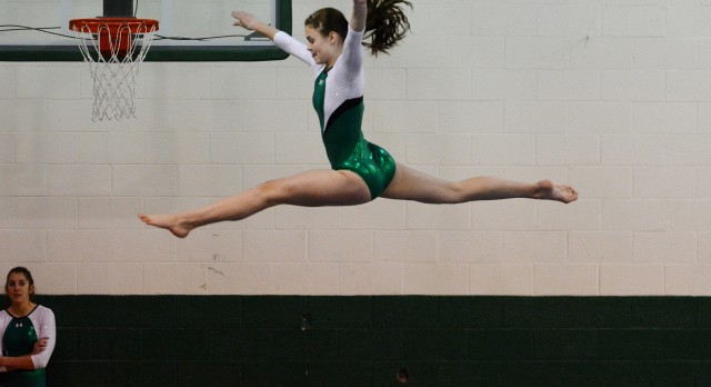 New Castle High School Girls Varsity Gymnastics finishes 1st place