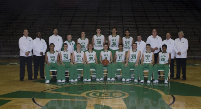 New Castle Boys Varsity Basketball defeated Blue River Valley Jr-Sr High School 73-40