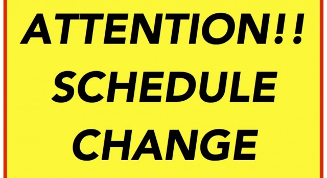 Baseball Schedule Change Against Pendleton Heights