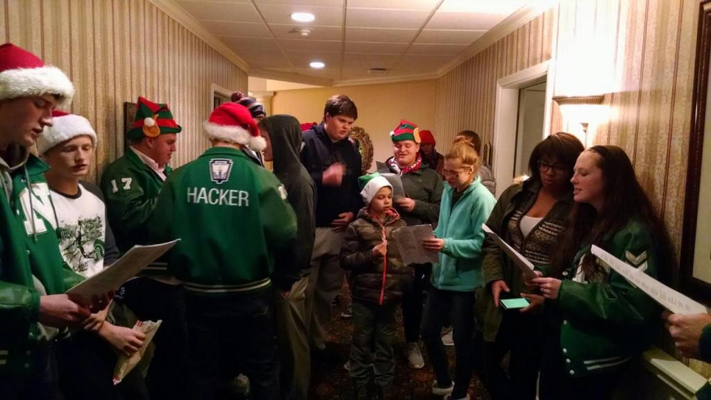 NC Tennis Christmas Caroling