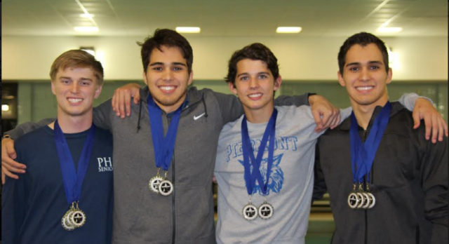 Piedmont Swim Takes 3rd at Suburban Conference