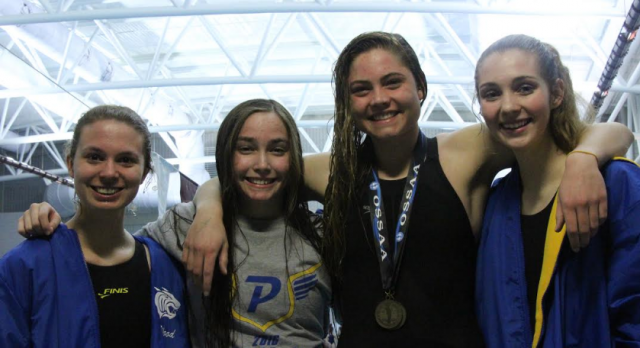 Piedmont Swim competes at the State.