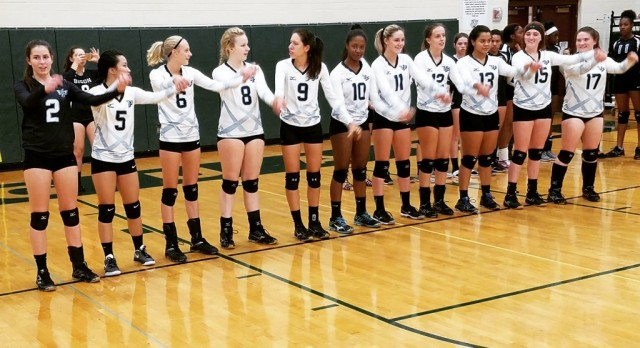VP Volleyball Prepares for Homecoming Game!