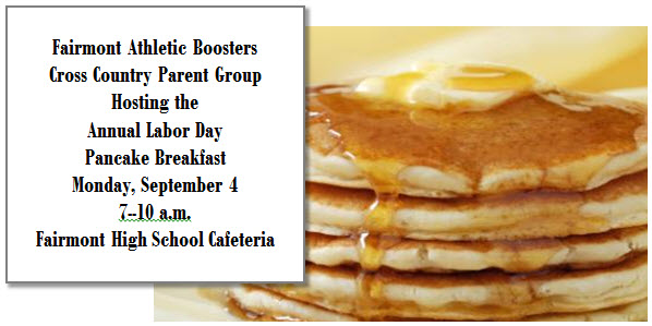 Pancake Breakfast 2017 XC Parents  with location