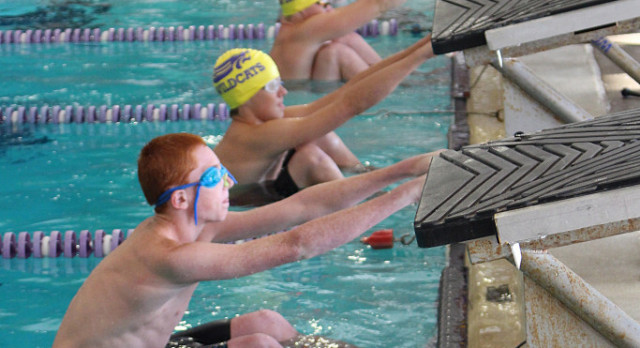 Van Hoesen, Urfer, Jett and Hubbard Lead Purple to Dominating Victory in Purple/Gold Swim Meet