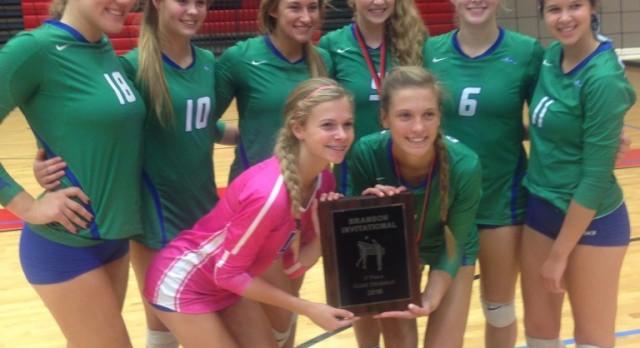 Blue Springs South Girls Varsity Volleyball beat Branson 2-0