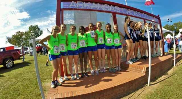Blue Springs South Girls Varsity Cross Country finishes 3rd place