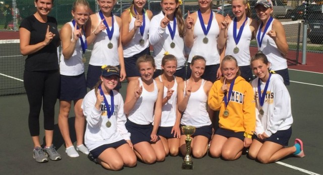JV Tennis Sweeps the Conference Tournament!