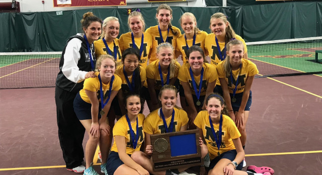 Mahtomedi High School Girls Varsity Tennis beat Roseville High School 7-0