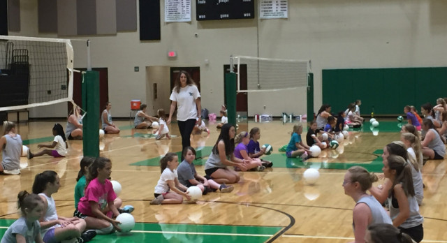 Volleyball Camp Begins