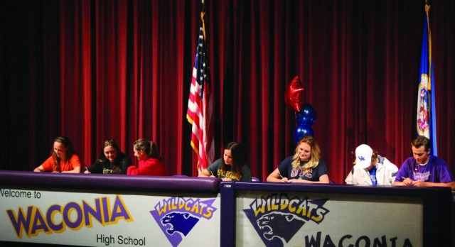 WHS Athletes Sign National Letters of Intent