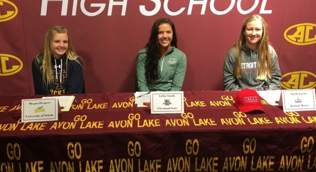 3 Avon Lake athletes commit to Div. I schools
