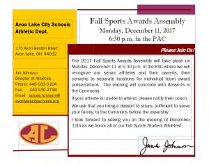 17-12-11 Fall Sports Awards Invitation