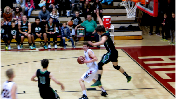 McKay Mangeris going for a layup against Blackfoot, Dec. 4, 2015.