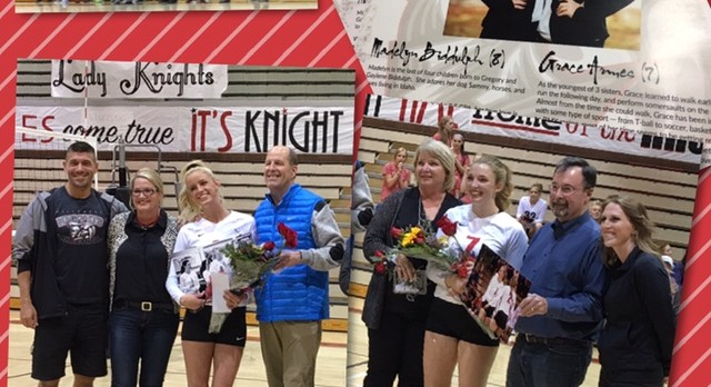 3-0 Win over Highland for Volleyball Senior Night