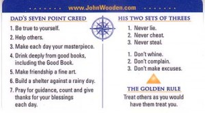 John Wooden Creed