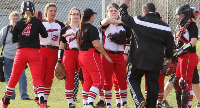Girard High School Varsity Softball beat Brookfield High School 5-1