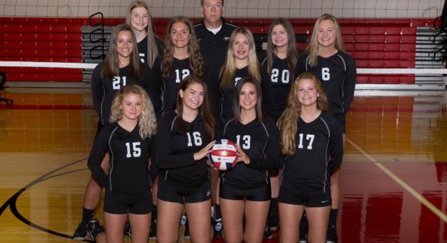 Girard High School Girls Varsity Volleyball beat Struthers High School 3-1