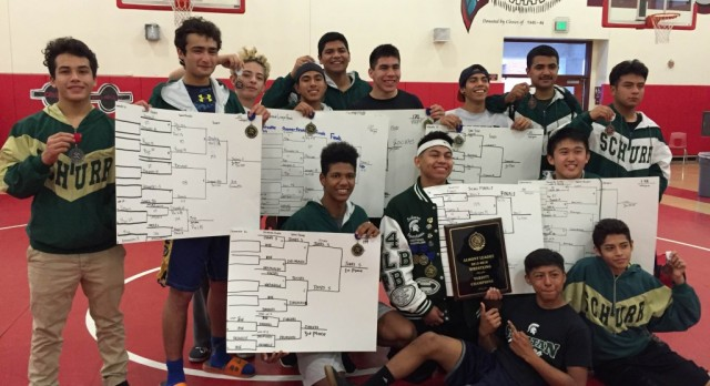 Wrestling Team takes Almont Title