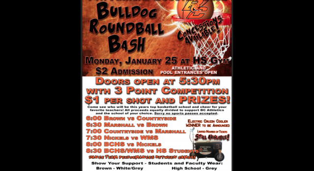 Athletic Booster's 7th Annual Roundball Bash Is January 25th!
