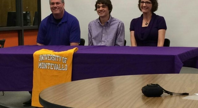 Sam Pearson signs with Montevallo
