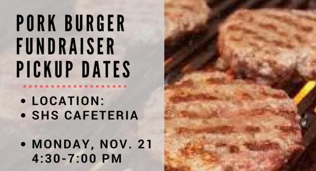 Pork Burger Fundraiser Pickup
