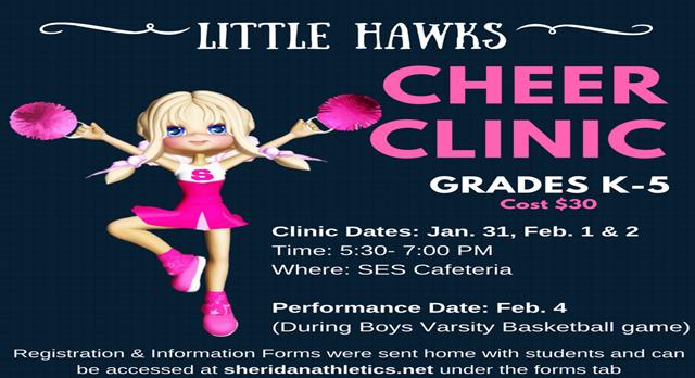 Little Hawks Cheer Clinic 2017