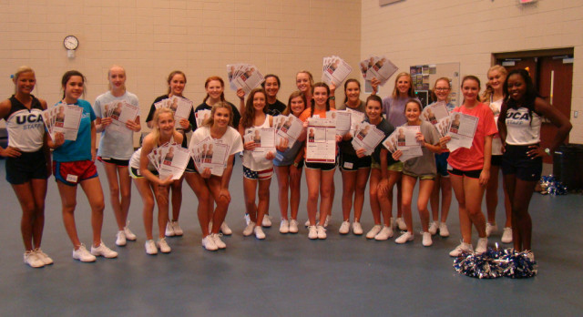 Blue Flame Cheerleaders' St. Jude Service Project