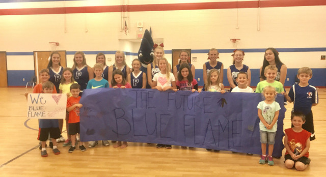 Blue Flame Cheerleaders at The Summer Superstars Arts Camp