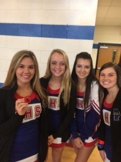 Blue Flame Varsity Cheerleaders Particiapate in Pickens Elementary's National Walk to School Day event