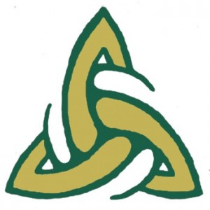 VB logo green gold white