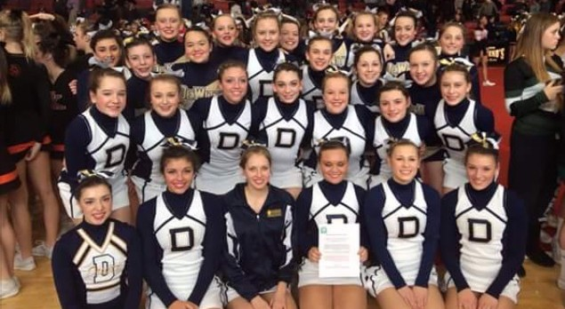 Congratulations – DeWitt Varsity Cheer – 2016 CAAC Red Division League Champions.