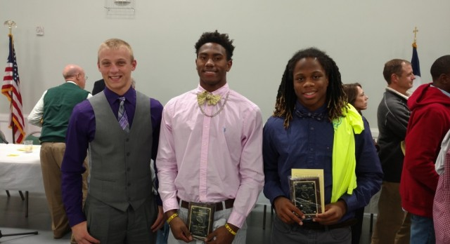 Three Receive All Lakelands in Football