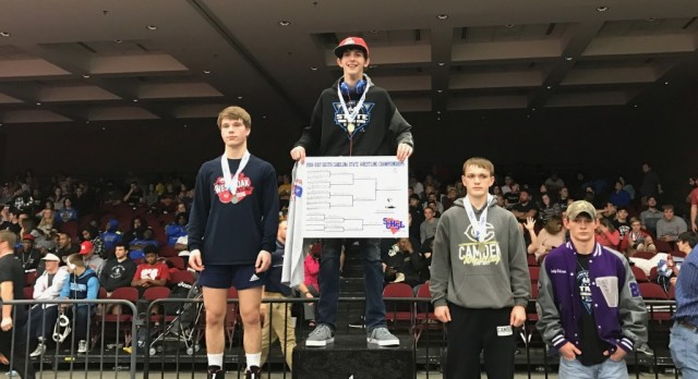 Emerald High School Boys Varsity Wrestling finishes 3rd place