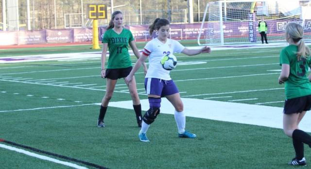Emerald High School Girls Varsity Soccer beat Dixie High School 3-0
