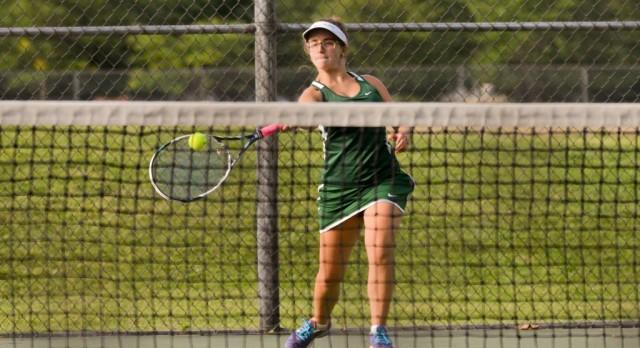 Girls Tennis Team Ties for Third at GLC Tournament