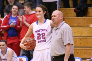 Emily Harrison is honored for being the 8th person in Webo history to score 1,000 pts!
