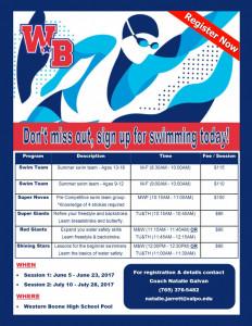 swim 17 camp
