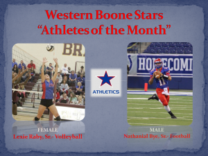 Western Boone Stars Athlete of the month october