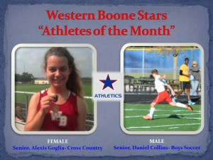 Western Boone Stars Athlete of the month august