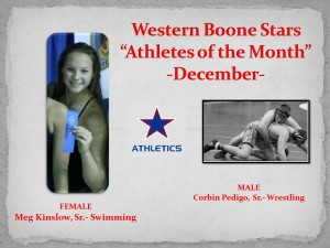 Western Boone Stars Athlete of the month december