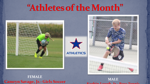 Western Boone Stars Athlete of the month september