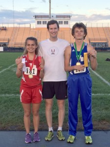 Alexis Goglia, Coach Lively, Hunter Martin after Charger Classic