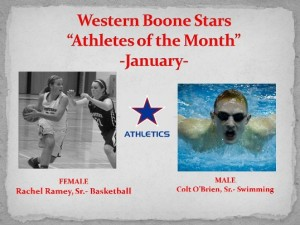 Western Boone Stars Athlete of the month january crop